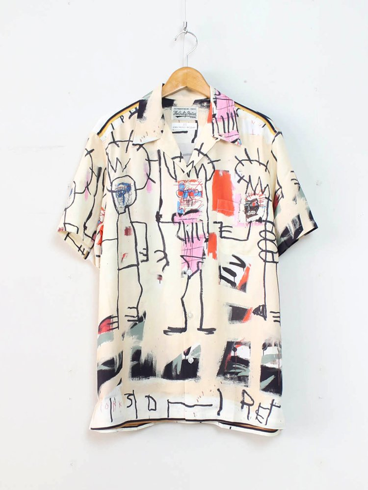 WACKO MARIA|JEAN-MICHEL BASQUIAT | S/S HAWAIIAN SHIRT (TYPE 3) #ONE [BASQUIAT-WM-HI03]