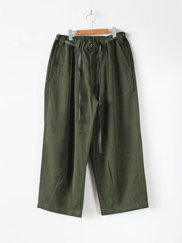 TIGHTBOOTH PRODUCTION|BAGGY SLACKS #OLIVE [SS20-B01]
