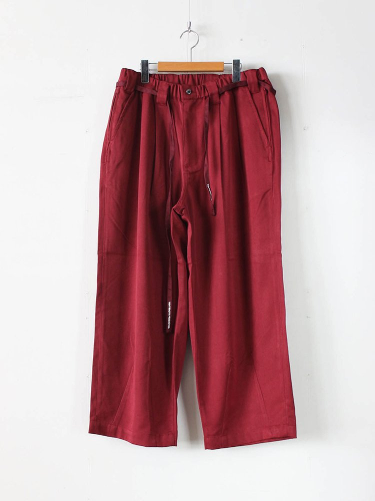 TIGHTBOOTH PRODUCTION|BAGGY SLACKS #WINE [SS20-B01]