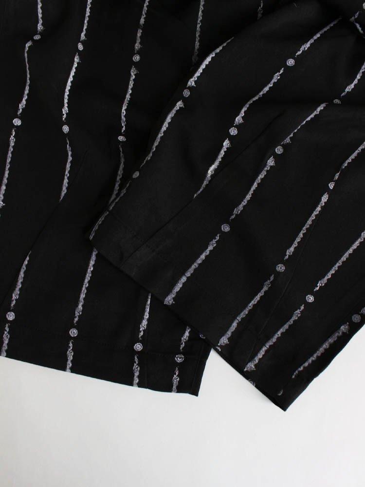 YUKICHI STRIPE BAGGY SLACKS #BLACK [SS20-B03]