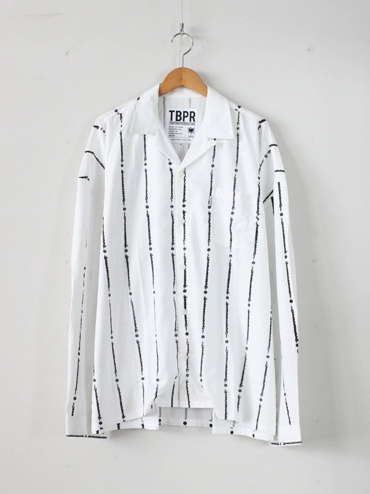TIGHTBOOTH PRODUCTION|YUKICHI STRIPE SHIRT #WHITE [SS20-S02]