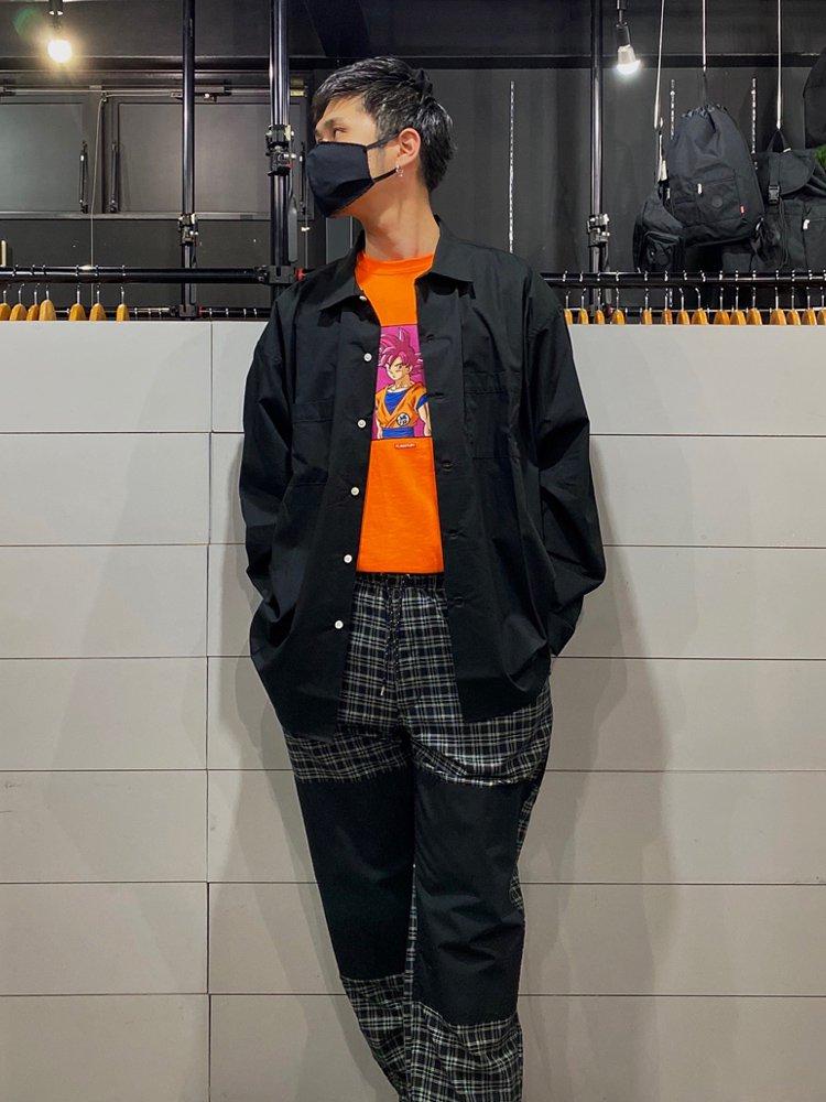 BIG L/S SHIRTS #BLACK [20SS-FS-30]
