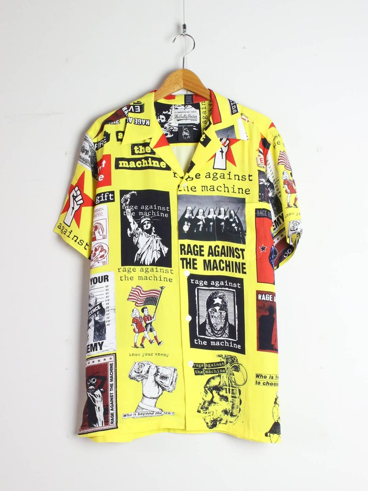 WACKO MARIA|RAGE AGAINST THE MACHINE | S/S HAWAIIAN SHIRT #YELLOW [RATM-WM-HI01]