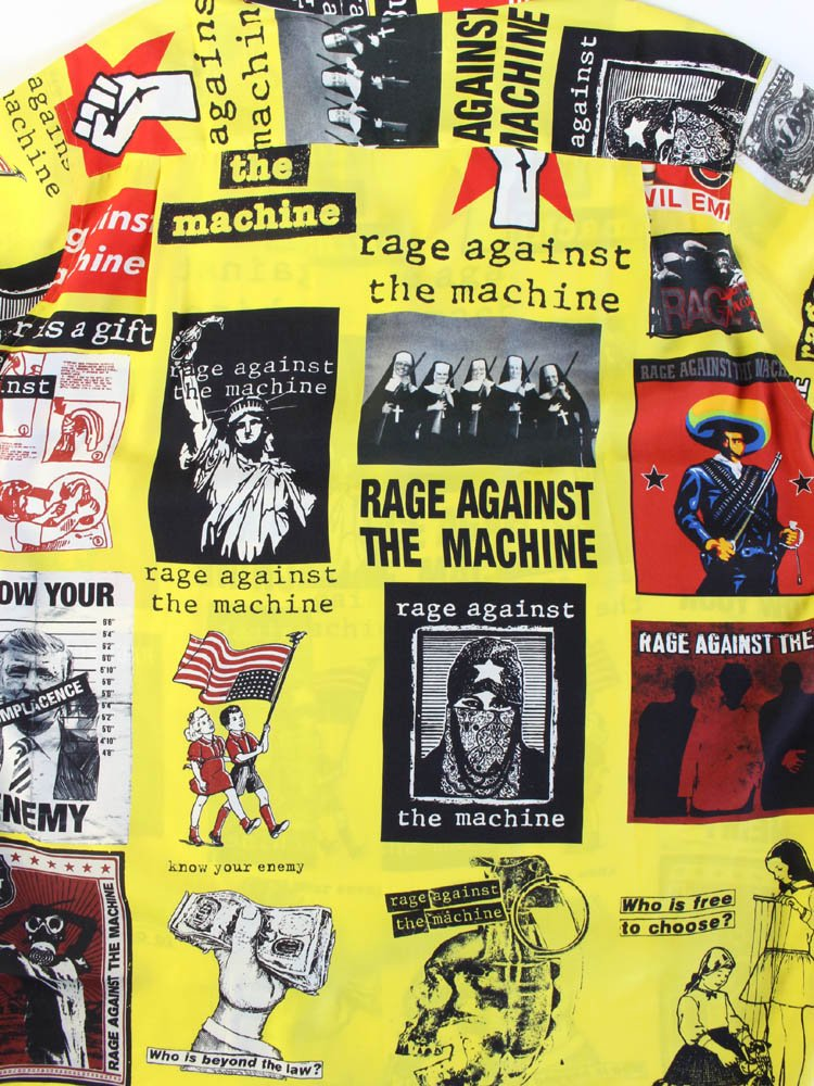 RAGE AGAINST THE MACHINE | S/S HAWAIIAN SHIRT #YELLOW [RATM-WM-HI01]