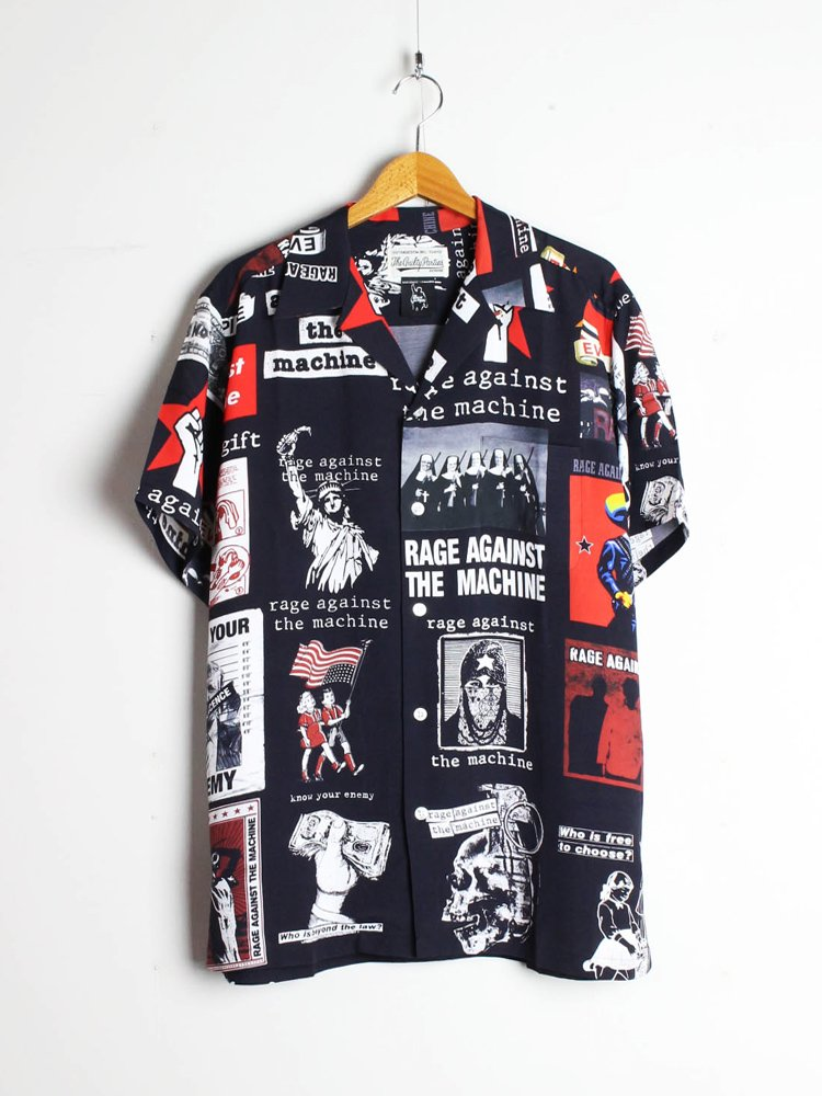 WACKO MARIA|RAGE AGAINST THE MACHINE | S/S HAWAIIAN SHIRT #BLACK [RATM-WM-HI01]