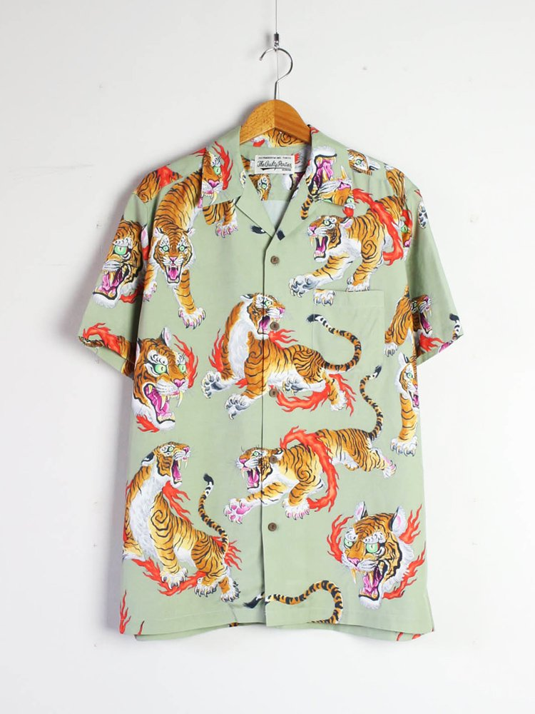 WACKO MARIA|TIM LEHI | S/S HAWAIIAN SHIRT (TYPE 2) #GRAY [TIMLEHI-WM-HI13]