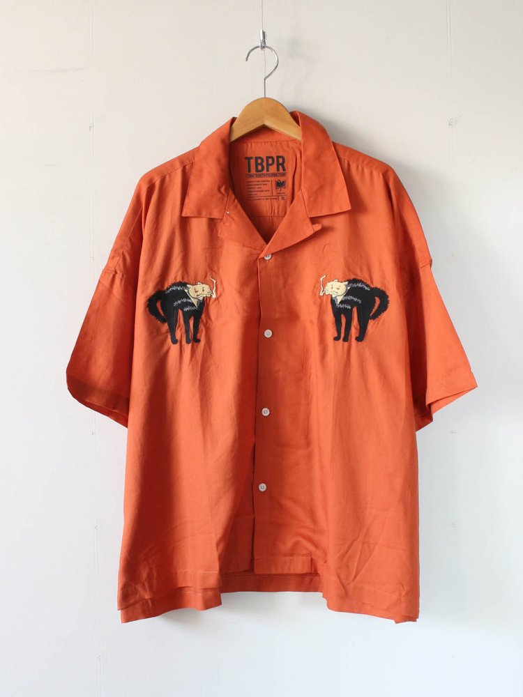 TIGHTBOOTH PRODUCTION|CAT WOMAN SHIRT #ORANGE [SS20-S04]