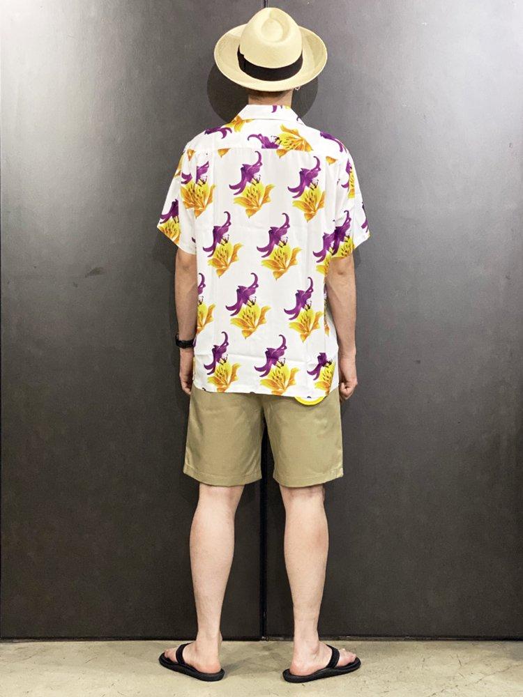 HAWAIIAN SHIRT S/S (TYPE 2) #WHITE [20SS-WMS-HI02]