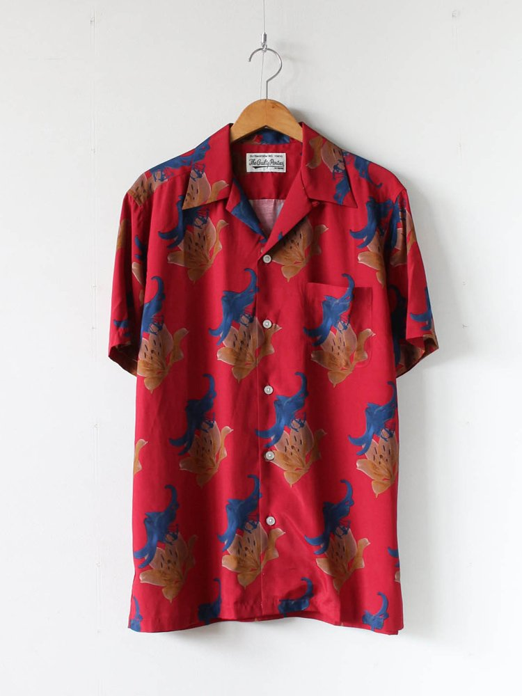 WACKO MARIA|HAWAIIAN SHIRT S/S (TYPE 2) #RED [20SS-WMS-HI02]
