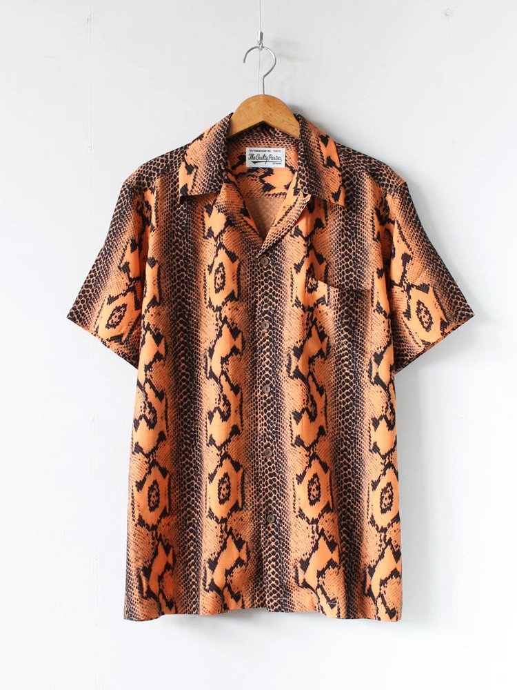 WACKO MARIA|HAWAIIAN SHIRT S/S (TYPE 4) #ORANGE [20SS-WMS-HI04]