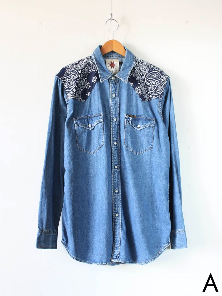 Nasngwam.|BANDANA WESTERN DENIM SHIRT A #BLUE [KS2042107]