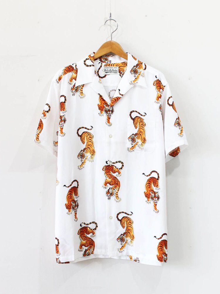 WACKO MARIA|TIM LEHI | S/S HAWAIIAN SHIRT (TYPE 4) #WHITE [TIMLEHI-WM-HI15]
