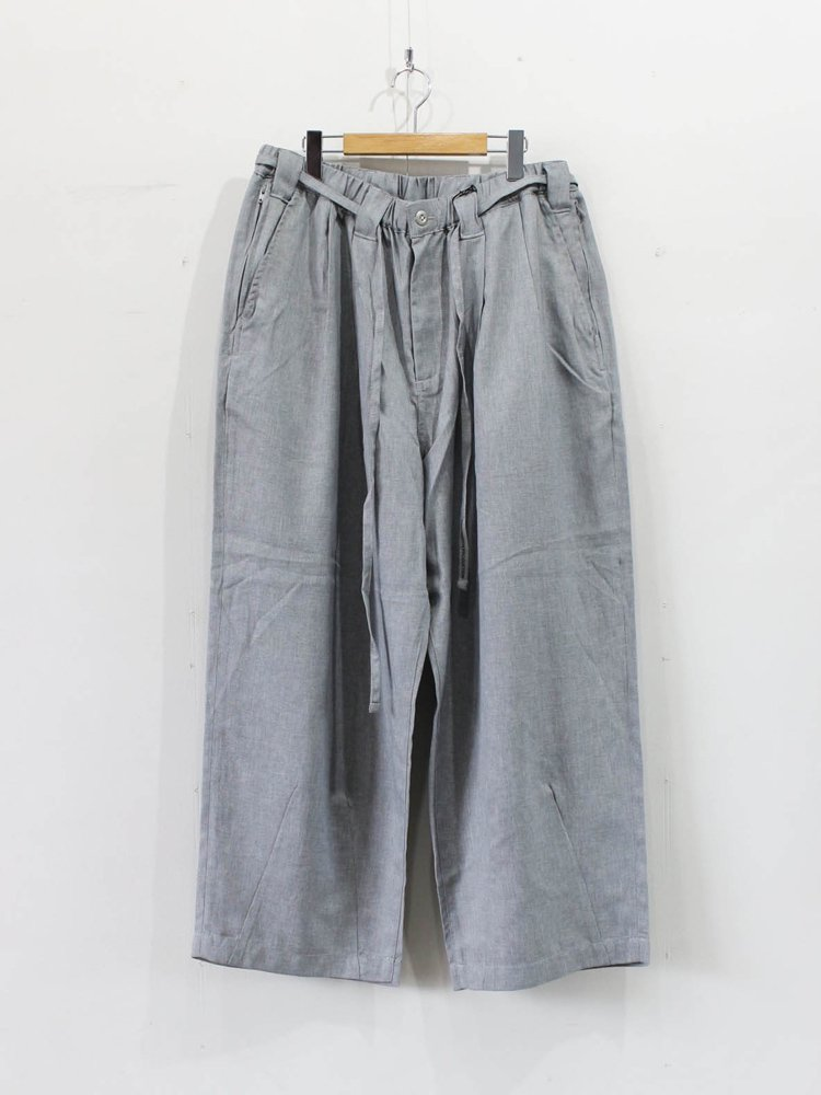 TIGHTBOOTH PRODUCTION|HERRINGBONE BAGGY SLACKS #GRAY [SS20-B06]