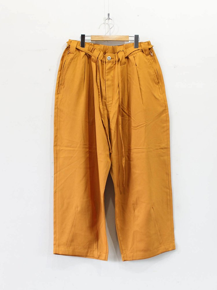 TIGHTBOOTH PRODUCTION|HERRINGBONE BAGGY SLACKS #MUSTARD [SS20-B06]