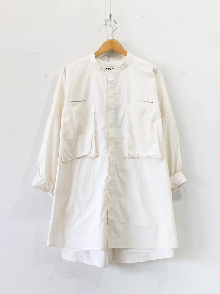 TIGHTBOOTH PRODUCTION|BAND COLLAR BIG SHIRT #IVORY [SS20-S05]