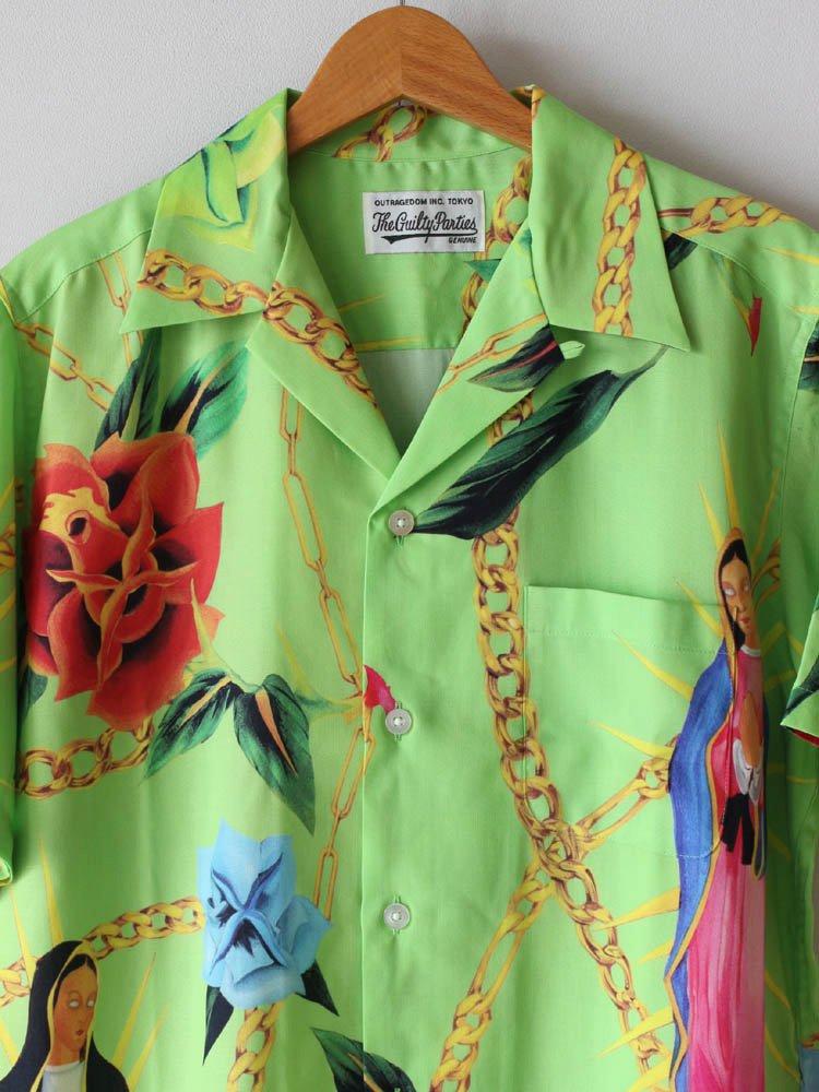 HAWAIIAN SHIRT S/S (TYPE 3) #GREEN [20SS-WMS-HI03]