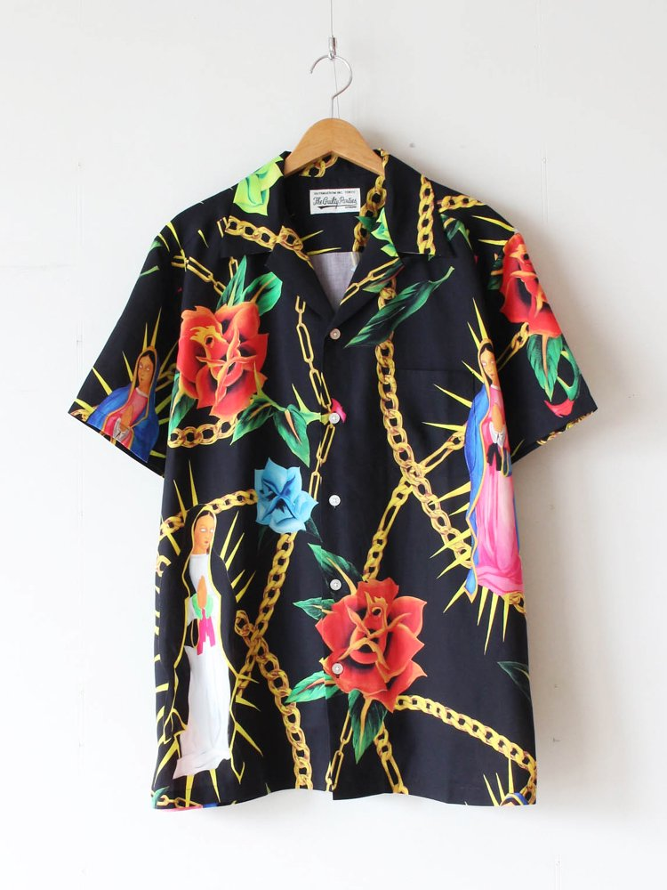 WACKO MARIA|HAWAIIAN SHIRT S/S (TYPE 3) #BLACK [20SS-WMS-HI03]