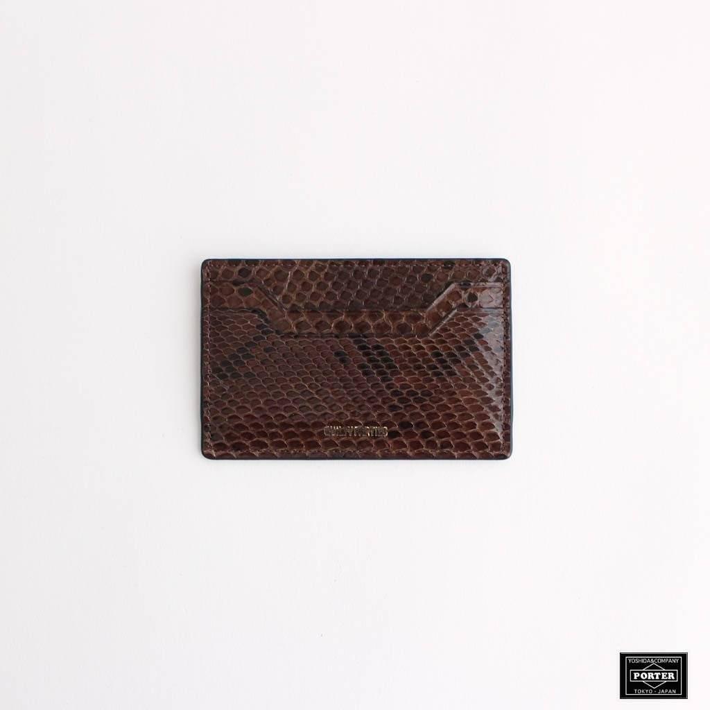 WACKO MARIA|PYTHON CARD CASE #BROWN [20FW-WMA-CC01]