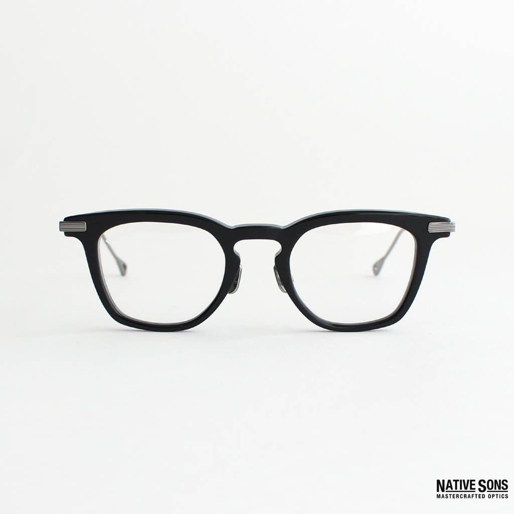 WACKO MARIA|NATIVE SONS | GLASSES (TYPE 3) #DKGRY-CLEAR [NATIVESONS-WM-EW06]