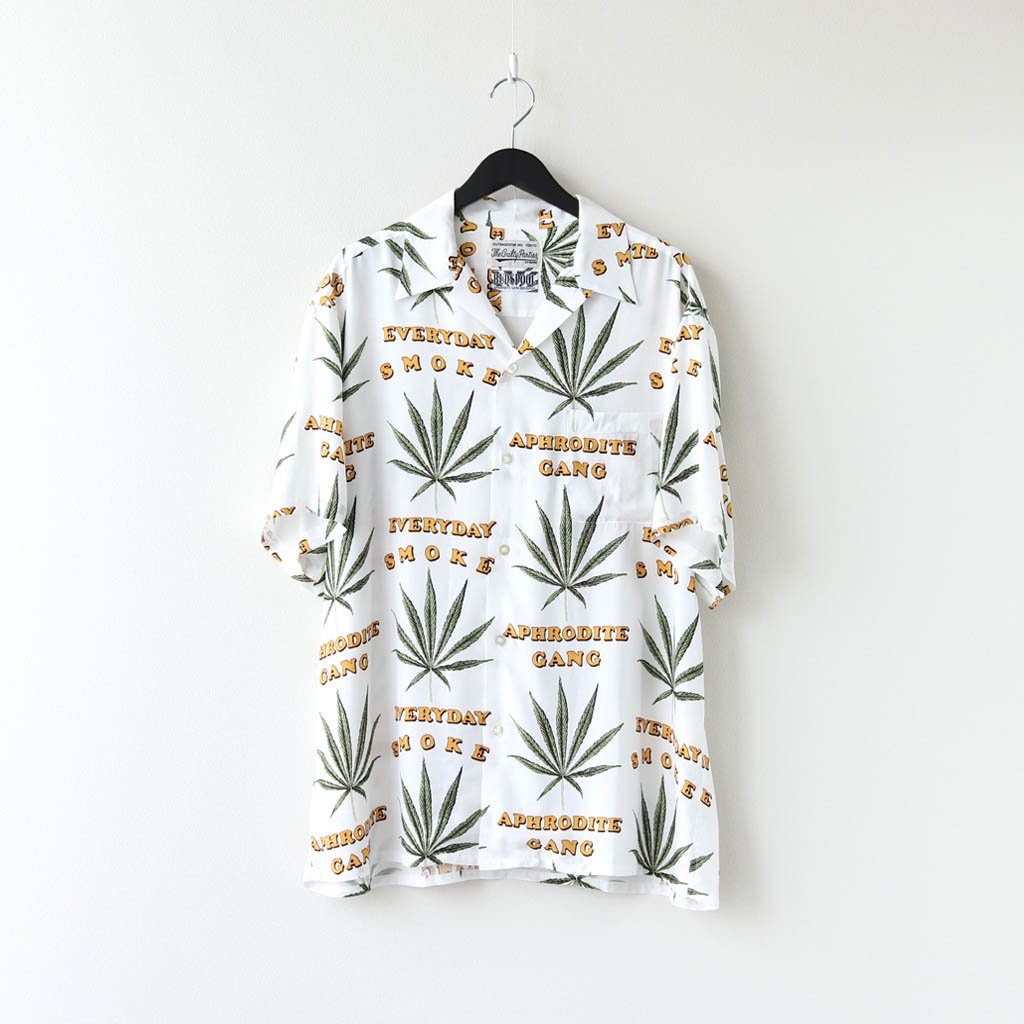 WACKO MARIA|舐達麻 | HAWAIIAN SHIRT #WHITE [NMD-WM-HI01]