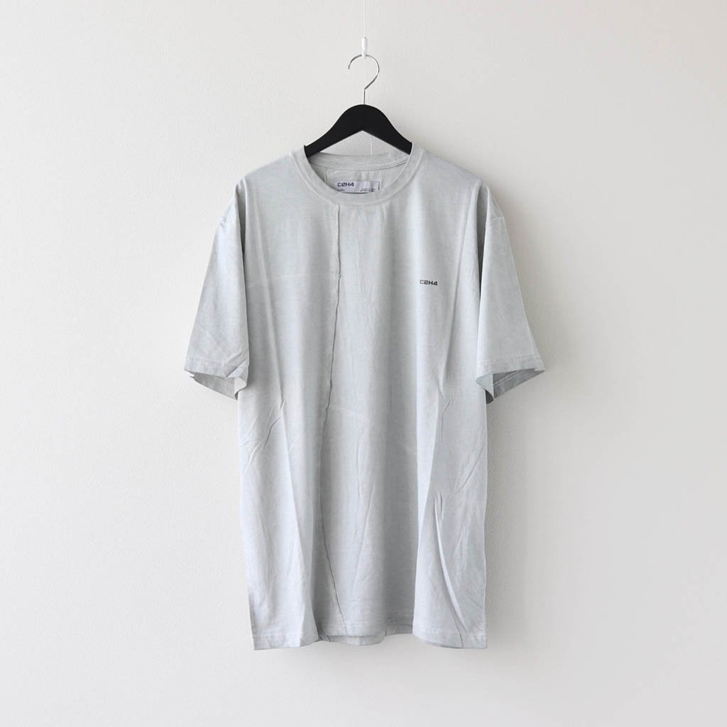 C2H4|CROOKED PANELLED T-SHIRT #GRAY [R002-045]