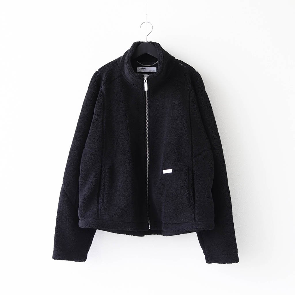 C2H4|INTERVEIN STITCH FLEECE JACKET #BLACK [R002-013]