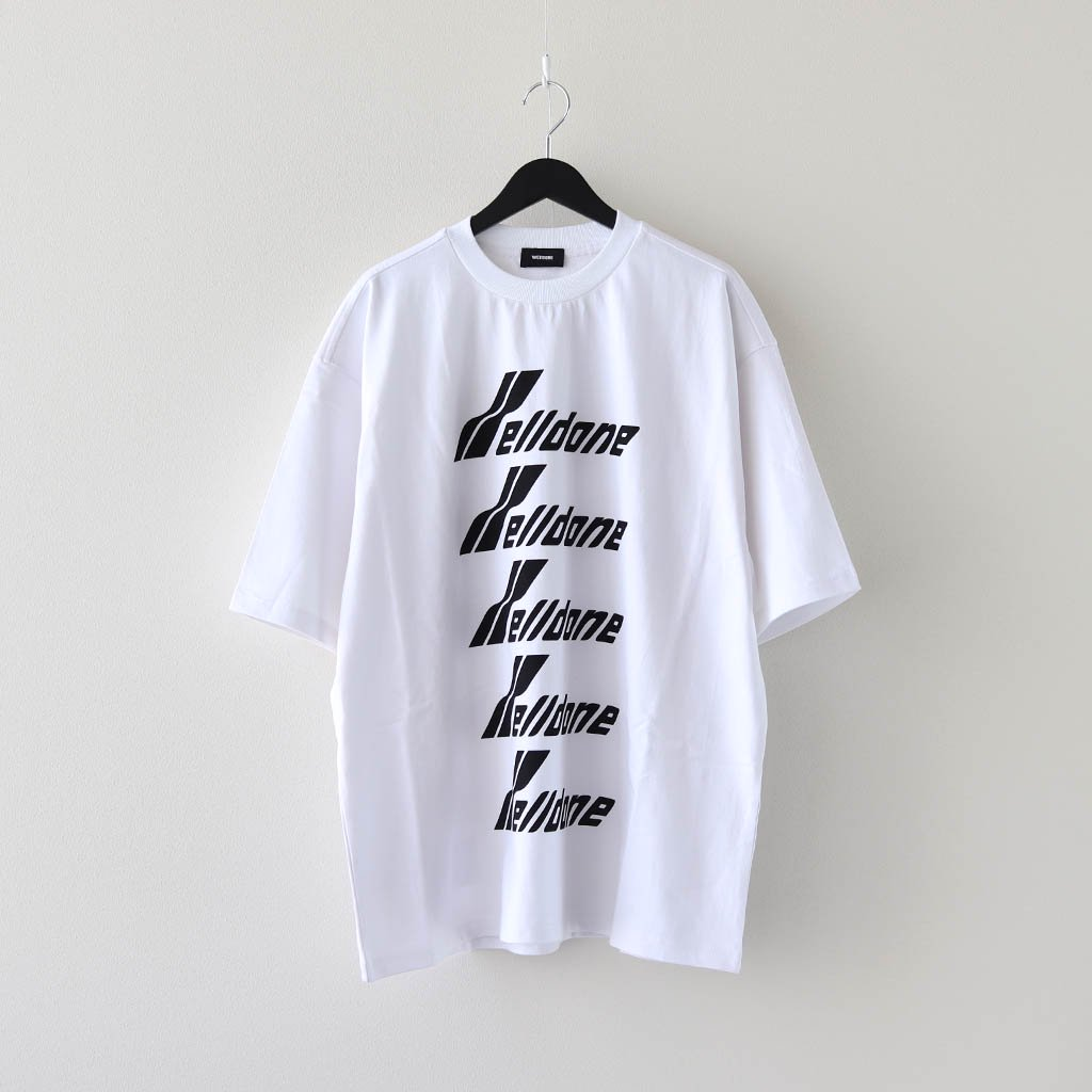 WE11DONE|WELLDONE FRONT LOGO T-SHIRT #WHITE [WD-TP6-20-074-U]