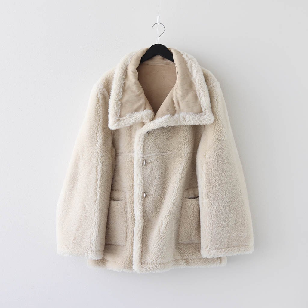 WE11DONE|DOUBLE SHEARING LOGO EMBOSSED JACKET #BEIGE [WD-F88-20-028-M]