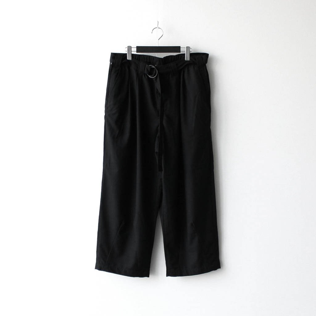 TIGHTBOOTH PRODUCTION|BAGGY SLACKS #BLACK [FW20-B01]