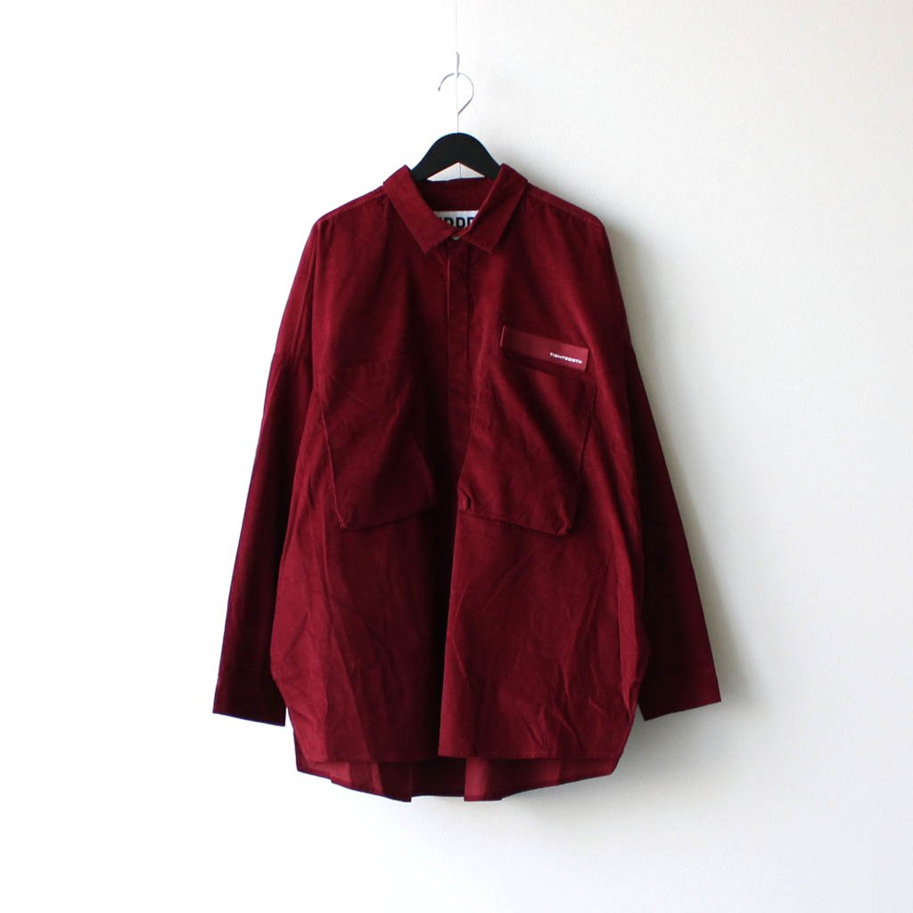 TIGHTBOOTH PRODUCTION|CORD BIG SHIRT #WINE [FW20-S01]