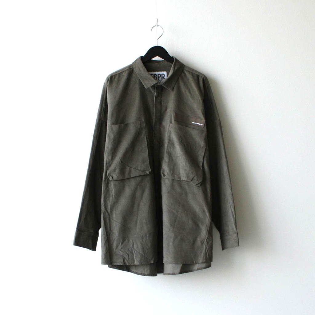 TIGHTBOOTH PRODUCTION|CORD BIG SHIRT #BROWN [FW20-S01]