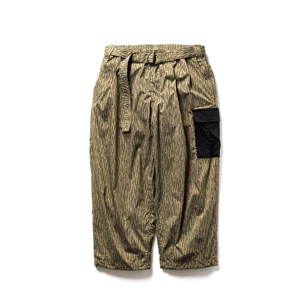 TIGHTBOOTH PRODUCTION|RAIN CAMO BAGGY PANTS #OLIVE [FW20-B02]