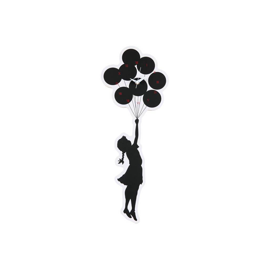 WALL CLOCK FLYING BALLOONS #WHITE [ 20SC-BR-OT-06]