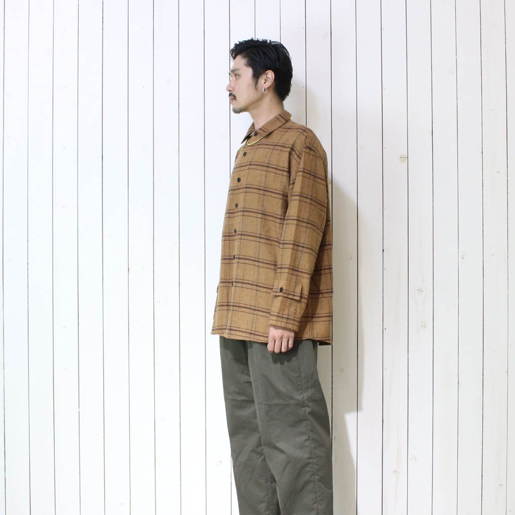 NOISE CHECK SHIRTS #BROWN [ET20AW-C004]