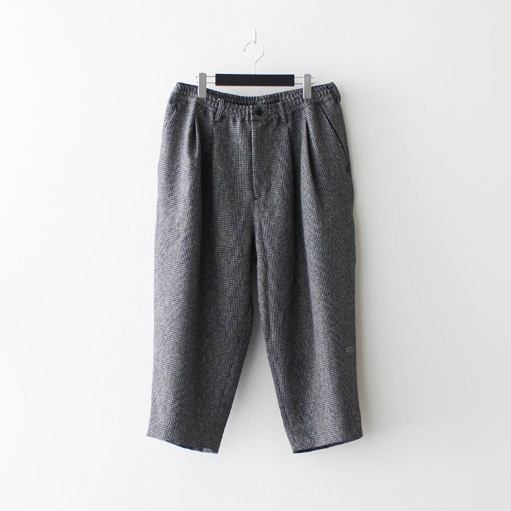 MAGIC STICK|WATER RESISTANT CROPPED PANTS BY WILD THINGS #GLEN PLAID [20FW-MS9-018]