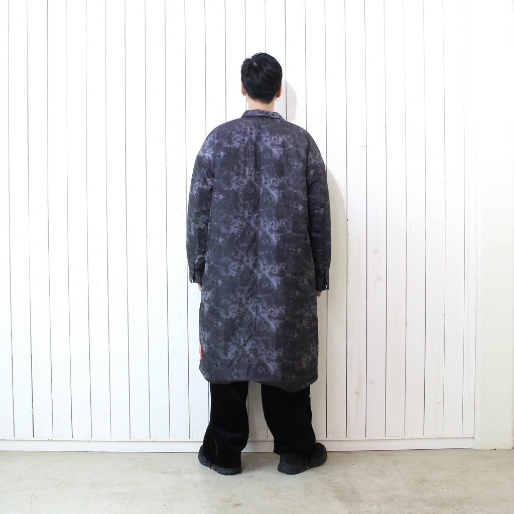 FISH TAIL CHESTER COAT BY WILD THINGS. #DYED GREY [20FW-MS9-016]