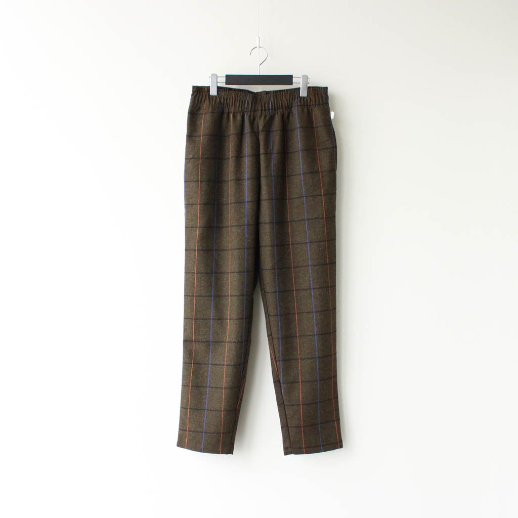 COOKMAN|CHEF PANTS (WOOL MIX CHECK) #OLIVE GREEN [231-03804]