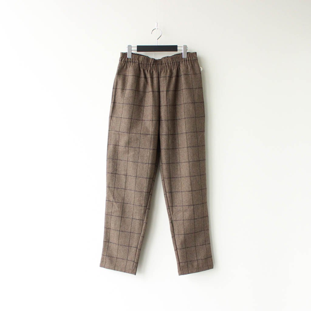 COOKMAN|CHEF PANTS (WOOL MIX CHECK) #BROWN [231-03806]