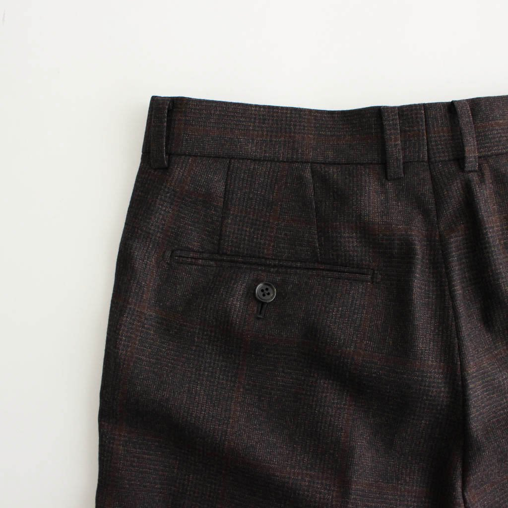 PLEATED TROUSERS (TYPE 2) #BROWN [20FW-WMP-TR07]