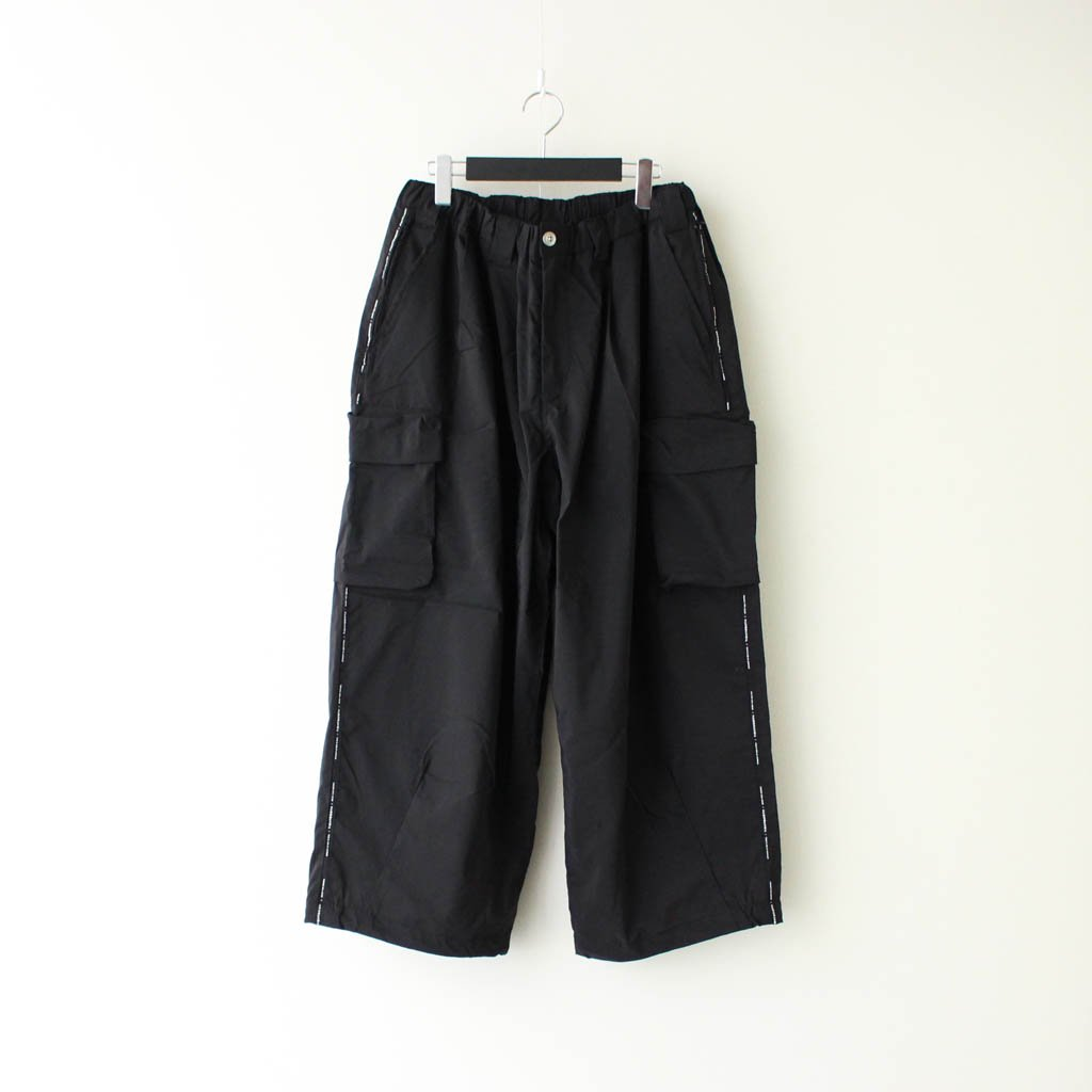 TIGHTBOOTH PRODUCTION|BAGGY CARGO PANTS #BLACK [FW20-B03]