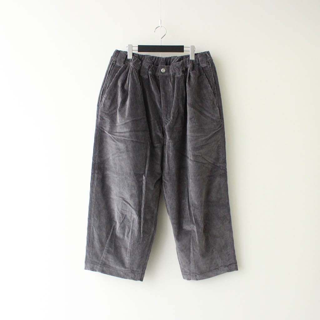 TIGHTBOOTH PRODUCTION|CORD BAGGY PANTS #CHARCOAL [FW20-B04]