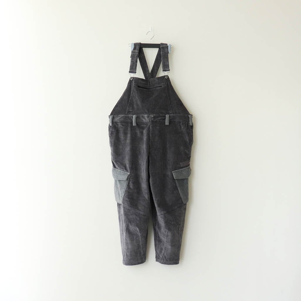 TIGHTBOOTH PRODUCTION|CORD OVERALL #CHARCOAL [FW20-B05]