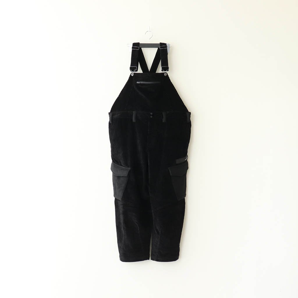 TIGHTBOOTH PRODUCTION|CORD OVERALL #BLACK [FW20-B05]