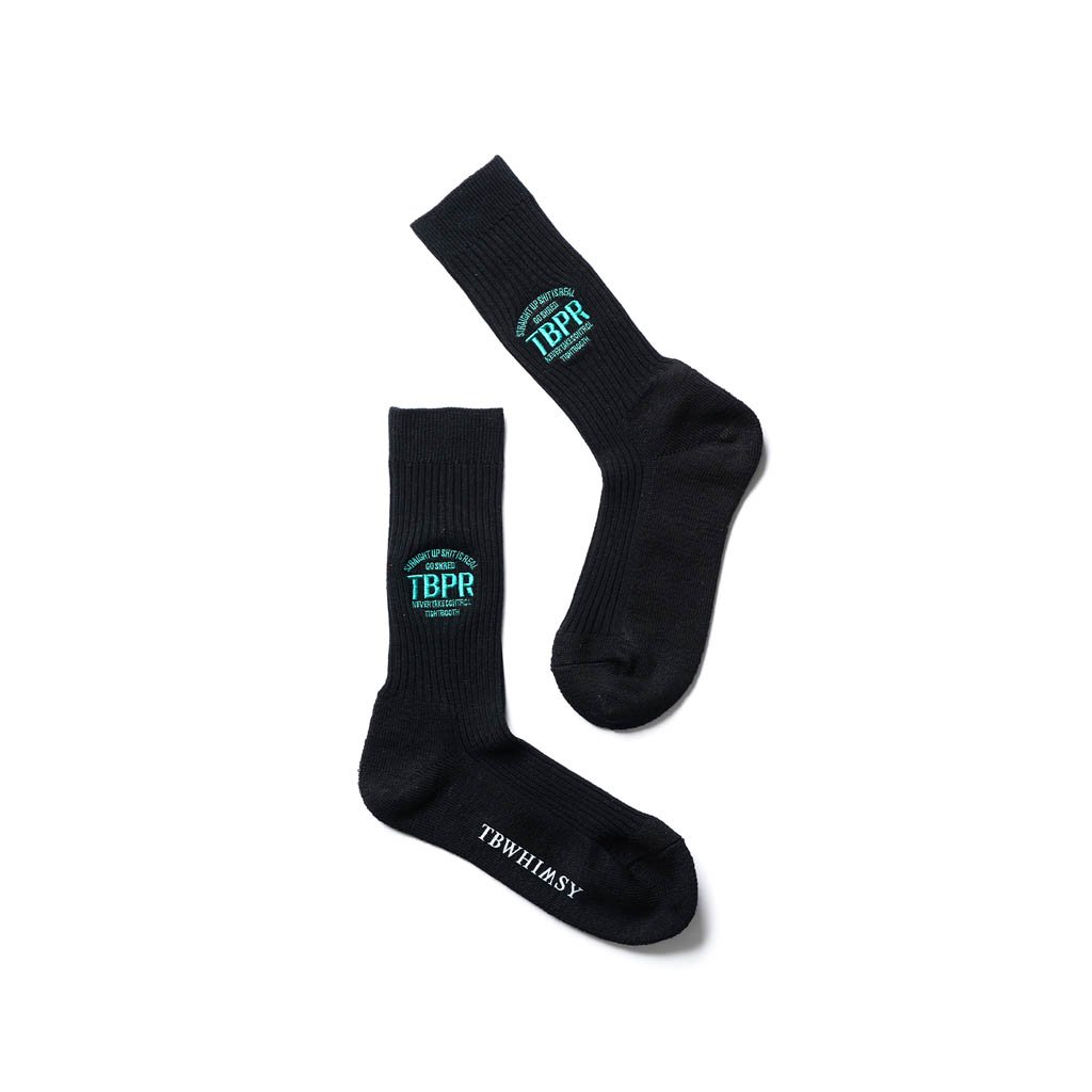 TIGHTBOOTH PRODUCTION|WHIMSY SOCKS | STRAIGHT UP SOCKS #BLACK [FW20-15th14]