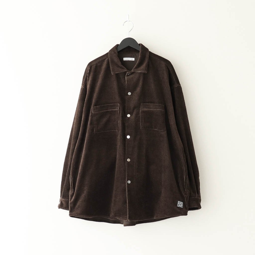 F-LAGSTUF-F|CORDS COACH SHIRTS JKT #BROWN [20AW-FS-27]