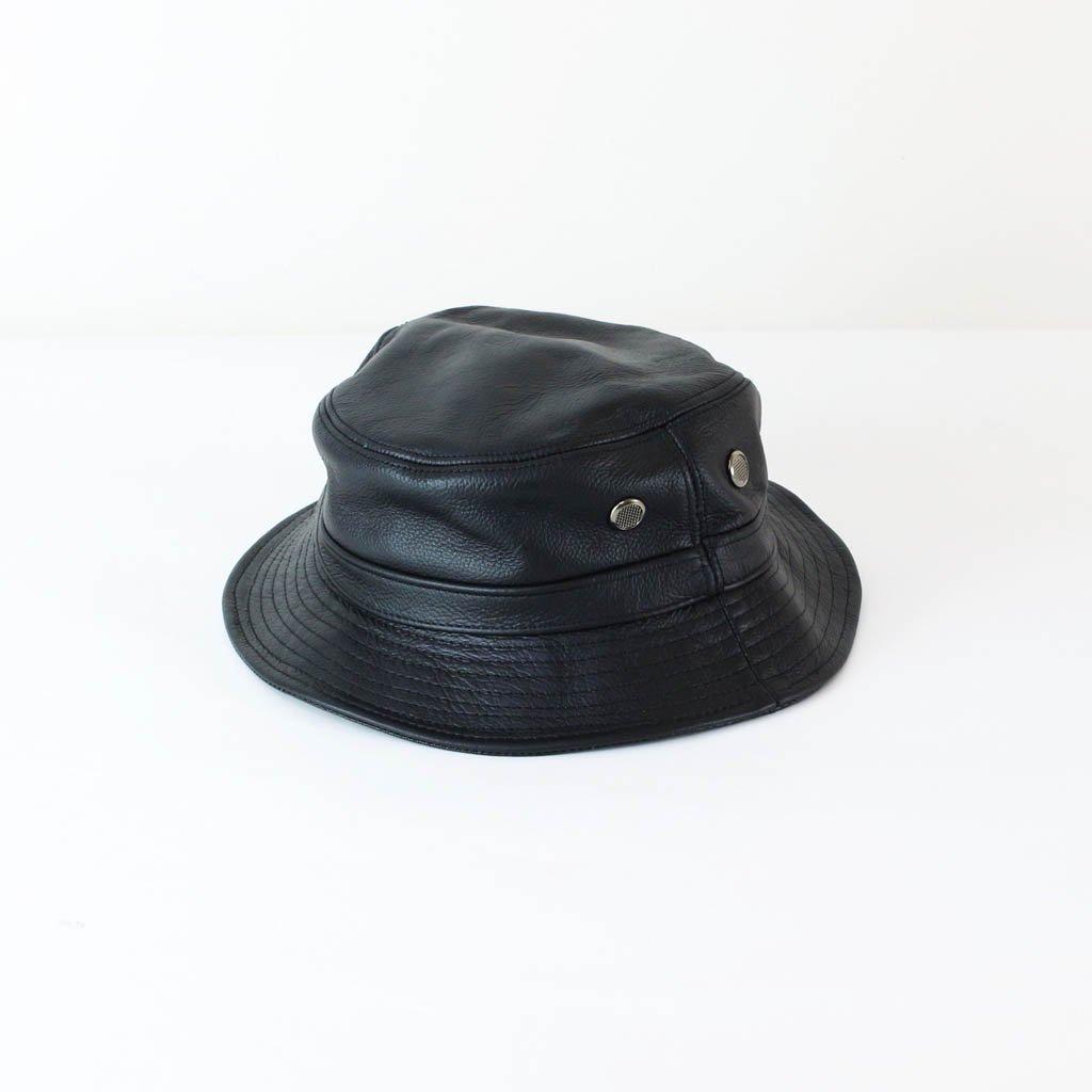 Nasngwam.|LEATHER BUCKET HAT #BLACK [RH0233403]