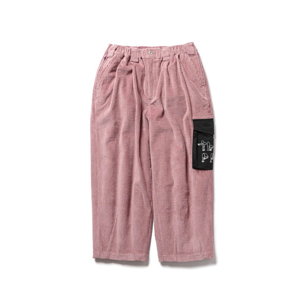 TIGHTBOOTH PRODUCTION|PATS PANTS | PAT CORD PANTS #OLD ROSE [FW20-15th20]