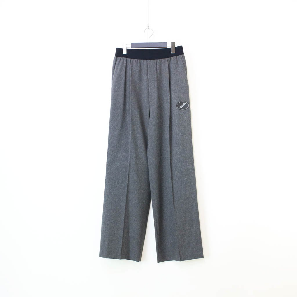 WE11DONE|LOGO TROUSERS #CHARCOAL [WD-PT4-20-729-U]