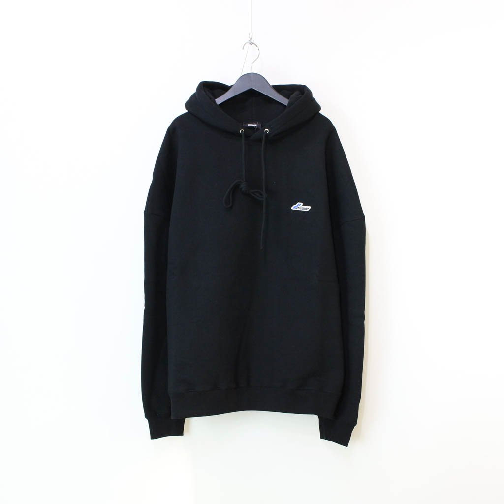 WE11DONE|WD EMBROIDERED LOGO HOODIE #BLACK [WD-TP3-20-707-U]