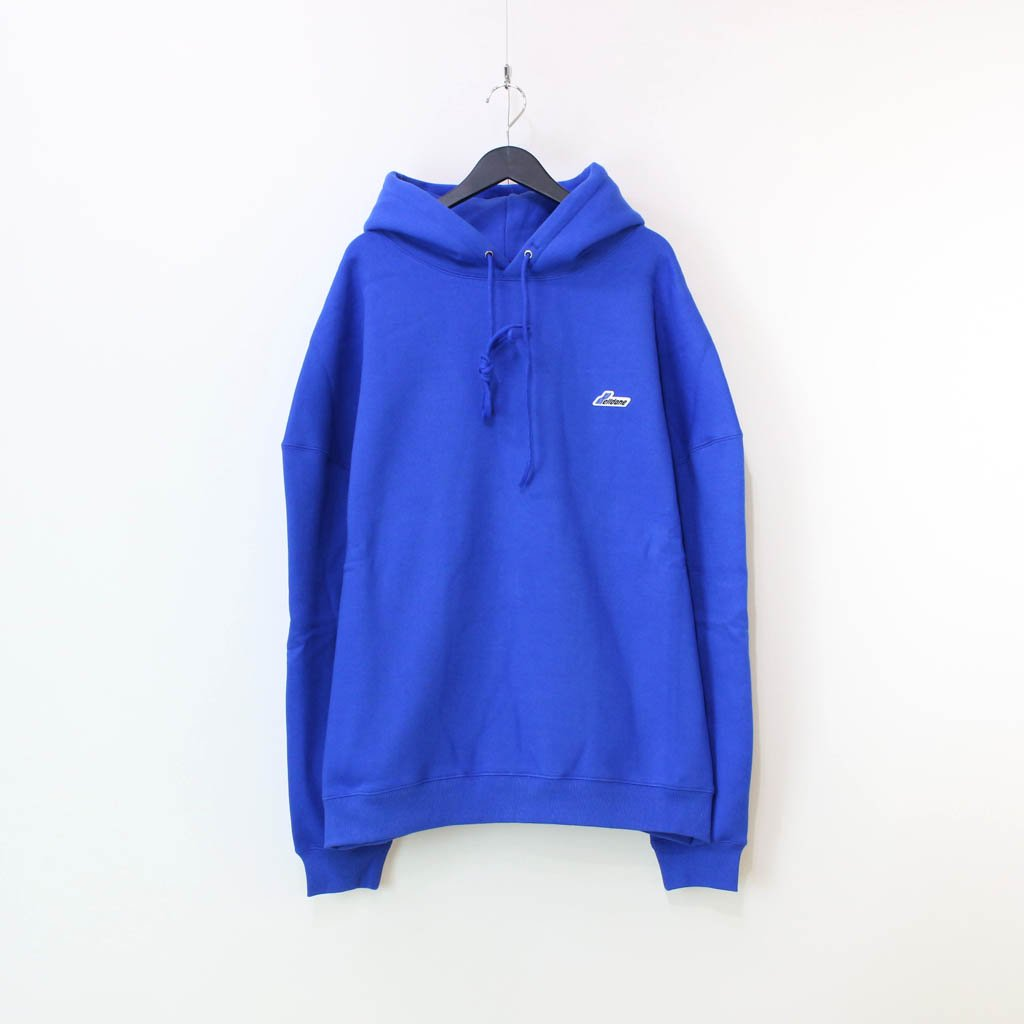 WE11DONE|WD EMBROIDERED LOGO HOODIE #BLUE [WD-TP3-20-707-U]